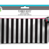 MAMBI Pencil Case - Planner Basics Black & White Stripe
