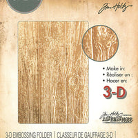 Tim Holtz Embossing Folder - Lumber 3D