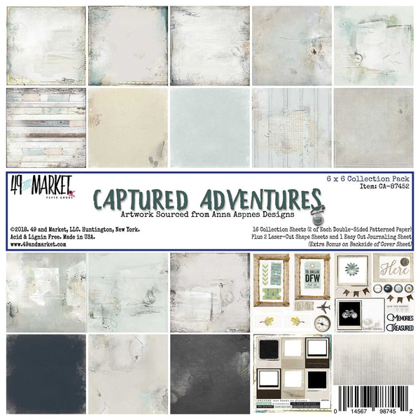 "49 Market Paper Pack 6"" X 6"" - Captured Adventures"