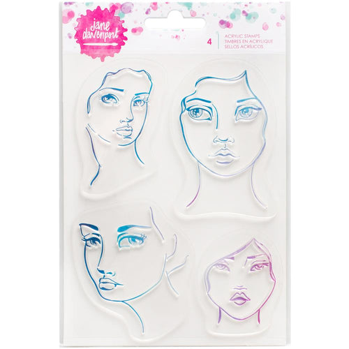 Jane Davenport Acrylic Stamp Set - 4 Faces