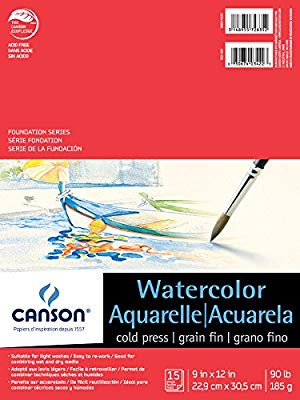 "Canson Watercolour Pad - 9"" x 12"" 90lb"