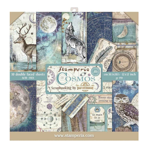 "Stamperia Paper Pack 12"" x 12"" - Cosmos"
