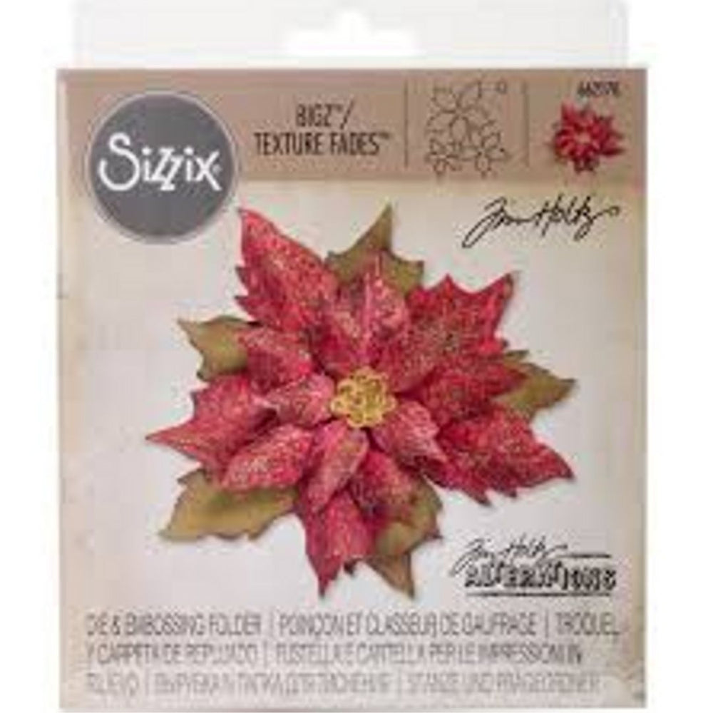 Tim Holtz Die & Embossing Folder - Layered Tattered Pointsettia