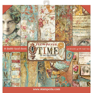 "Stamperia Paper Pack 12"" x 12"" - Time Is An Illusion"