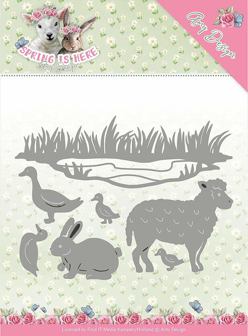 Amy Design Die Set - Spring Animals