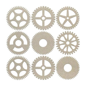 Couture Chipboard Set - Mini Gears (9pcs)