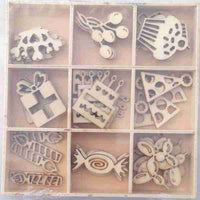 Crafts4U Wood Pieces - Party