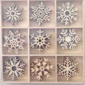 Crafts4U Wood Pieces - Snowflakes