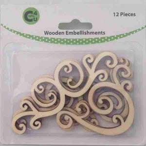 Crafts4U Wooden Embellishments - Flourishes