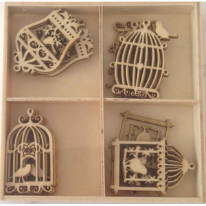 Crafts4U Wood Pieces - Birdcages