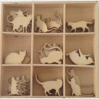 Crafts4U Wood Pieces - Cats