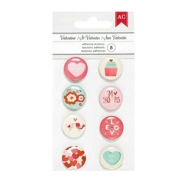 AC  Buttons - Valentine Mini Adhesive