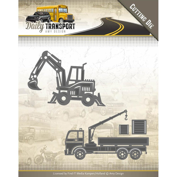 Find It Trading Amy Design Daily Transport Die - Construction Vehicles
