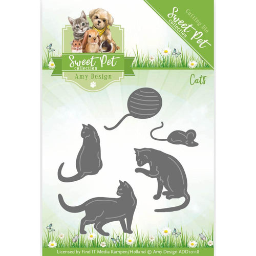 Find It Trading Amy Design Sweet Pet Die - Cats