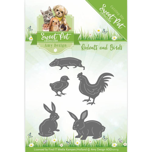 Find It Trading Amy Design Sweet Pet Die - Birds, Hamsters & Guinea Pigs