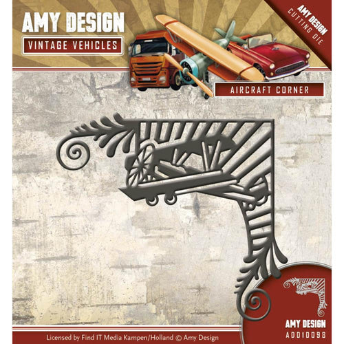 Find It Trading Amy Design Vintage Vehicles Die -Aircraft Corner