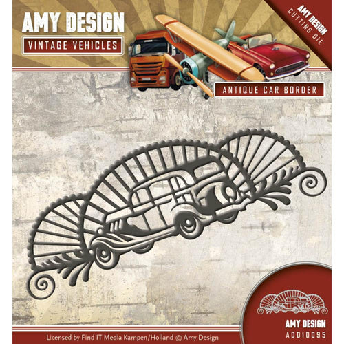 Find It Trading Amy Design Vintage Vehicles Die - Antique Car Border