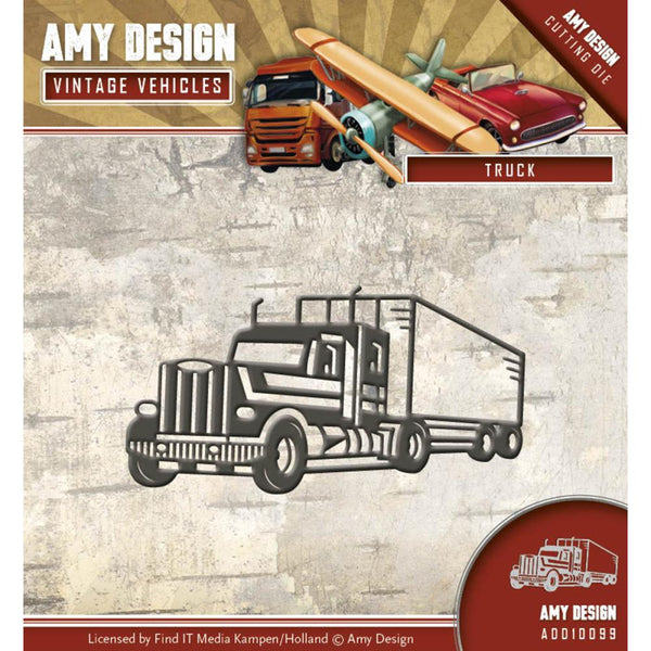 Find It Trading Amy Design Vintage Vehicles Die - Truck