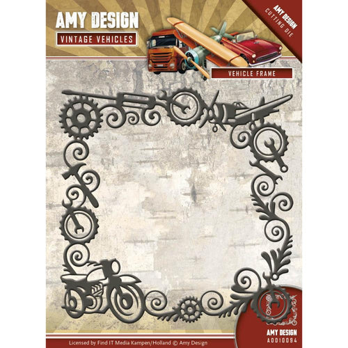 Find It Trading Amy Design Vintage Vehicles Die - Vehicle Frame