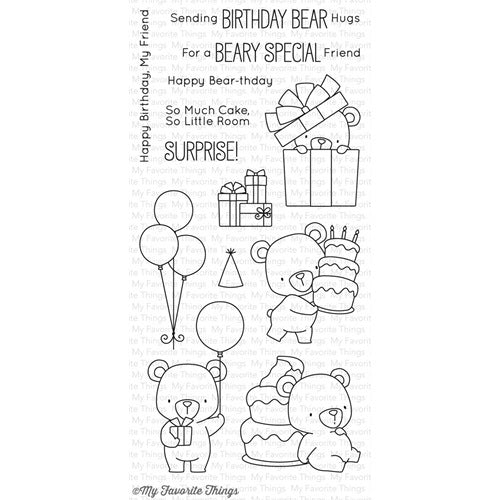 My Favorite Things Beary Special Birthday Stamp