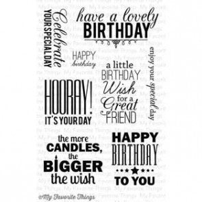 My Favorite Things Stamp set - Birthday Greetings