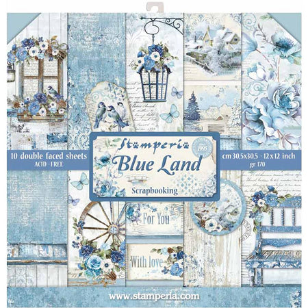 "Stamperia Paper Pack 12"" x 12"" - Blues"