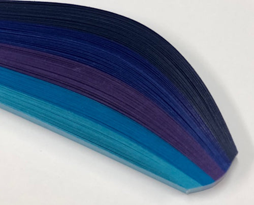 HP Quilling Strips 6mm - Blue Shades