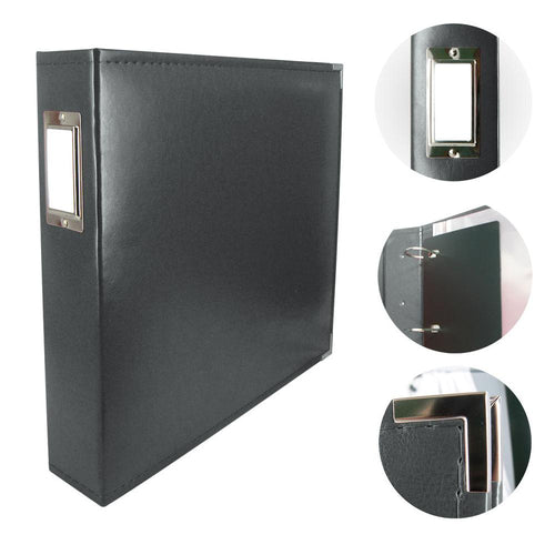 "Couture Album 12"" x 12"" - Leather Black"