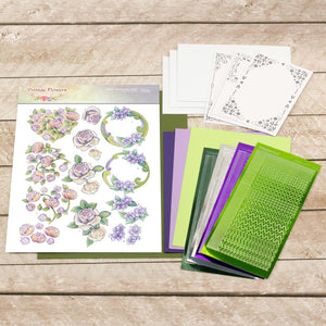 Jeanine's Art Decoupage Pack - Purple Flowers
