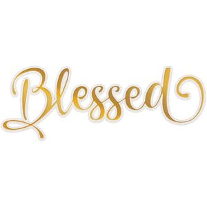Couture Cut, Foil & Emboss Die - Blessed