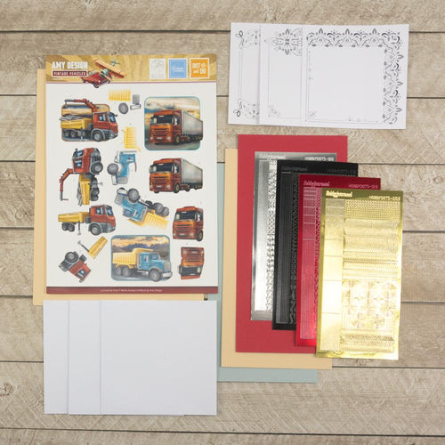Amy Designs Decoupage Pack - Trucks