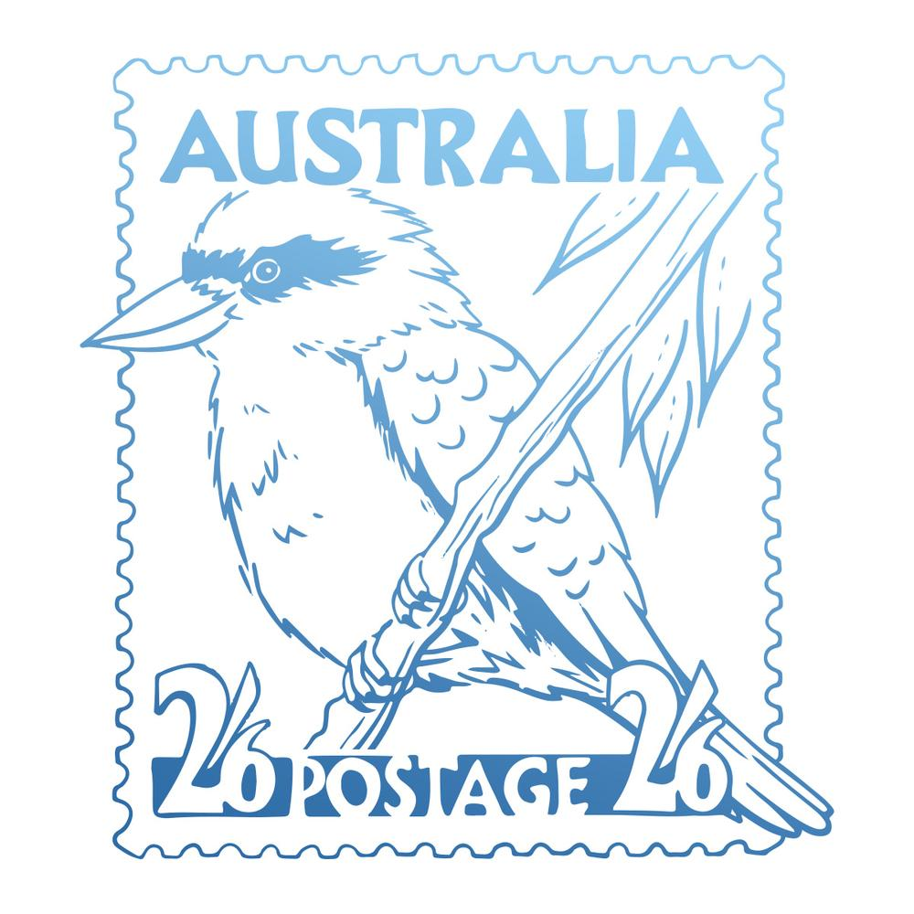 Couture Stamp Mini - Kookaburra Postage Stamp