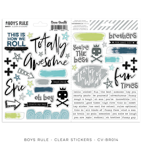 Cocoa Vanilla Stickers - Boys Rule