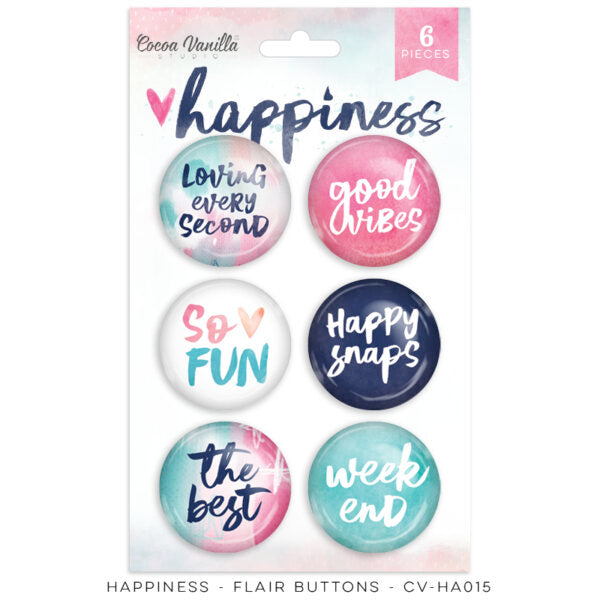 Cocoa Vanilla Buttons - Happiness