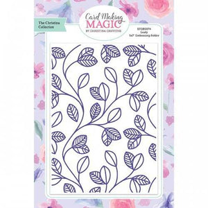 "Card Making Magic Embossing Folder 5"" x 7"" - Leafy"