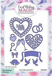 Card Making Magic Die set - Love & Marriage