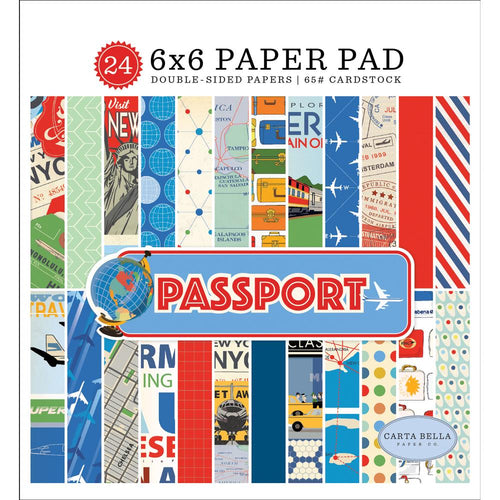 "Carta Bella Paper Pad 6"" x 6"" - Passport"
