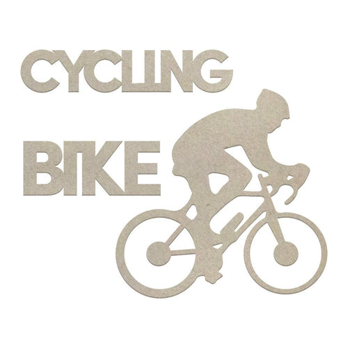 Couture Chipboard Set - Cycling