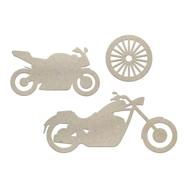 Couture Chipboard set - Motorcycles