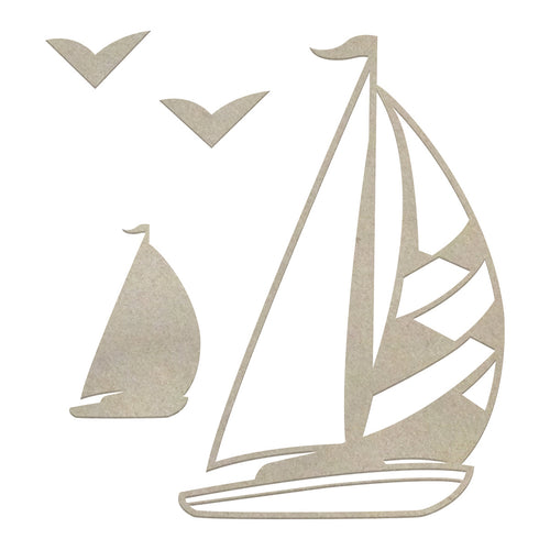Couture Chipboard Set - Sailboats