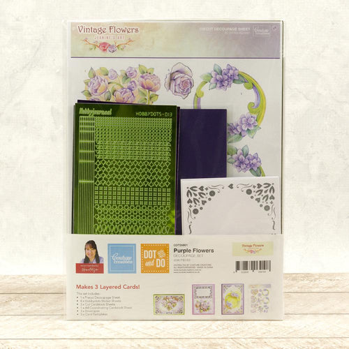 Couture Creations Hobbydots 3D Push Out Kit - Flowers