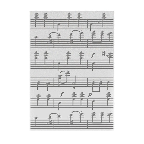 Couture Creations Embossing Folder - Music Of The Heart