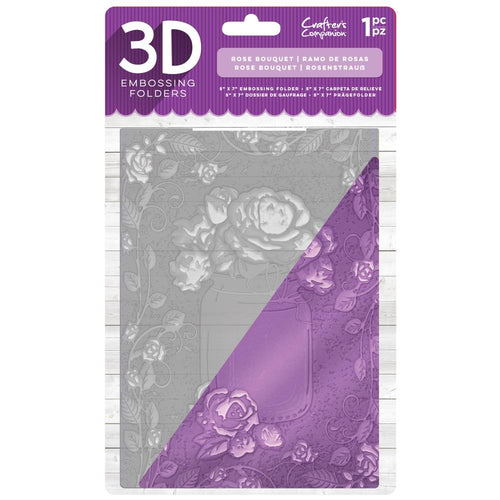 "Crafters Companion Embossing Folders 5"" x 7"" 3D - Rose Bouquet"