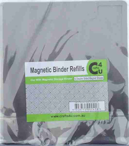 Crafts4U Die Storage Binder Refills - 6 Magnetic Double Sided