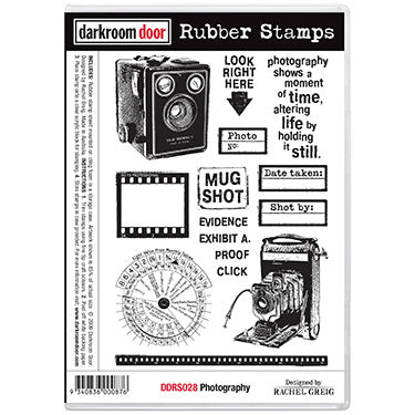 Darkroom Door Stamp Background - Crackle