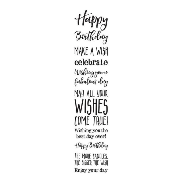 Darkroom Door Stamp Sentiments - Happy Birthday