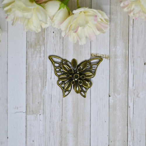 Antique Bronze 3D Metal Butterfly