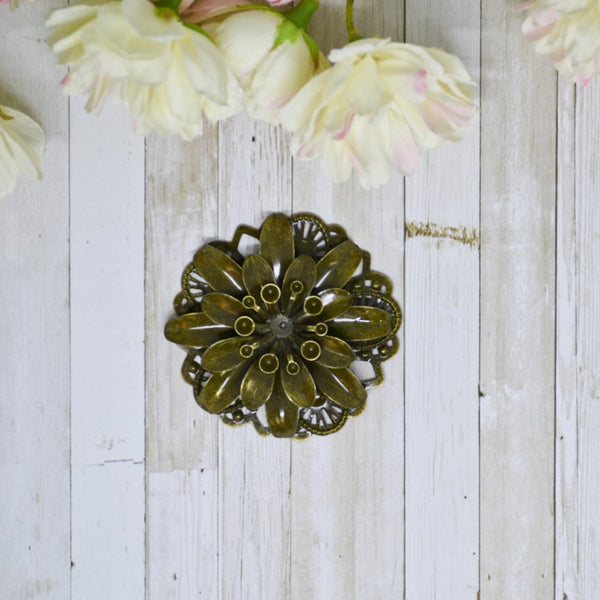Antique Bronze 3D Metal Gerbera