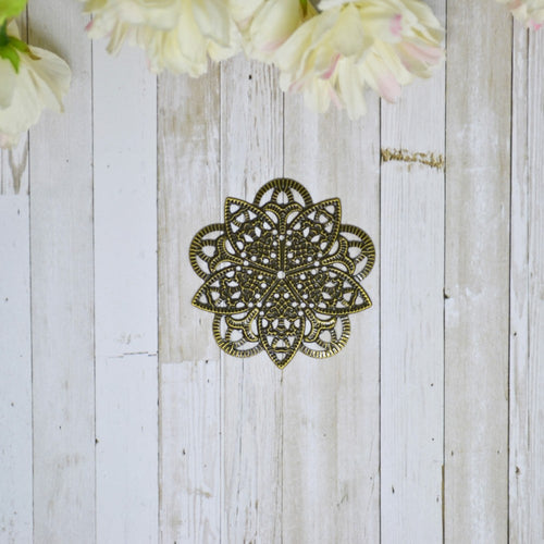 Antique Bronze Metal Filigree Celtic Circle Large