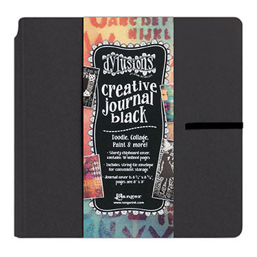 "Dylusions Journal - Square 8.75"" X 9"" Black  Paper"